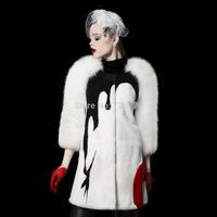 2014 Winter Rex Rabbit hair fur female medium-long slim thickening fur Overcoat  Fashion Outerwear