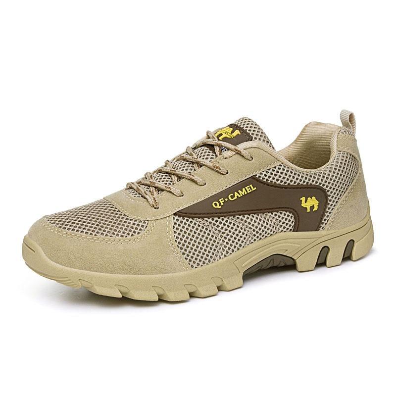 Sapatilha sapatos de couro genuíno tênis para caminhada ao ar livre resistente ao desgaste caminhadas calçados esportivos sapatos de caminhada(China (Mainland))
