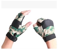 G-12 male Camouflage tactical gloves fishing gloves breathable semi-finger wear-resistant ride gloves