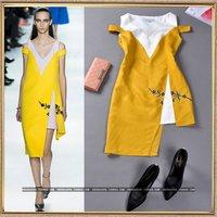 Fashion women's elegant strapless V-neck tank dress fluid elegant one-piece dress linen free shipping