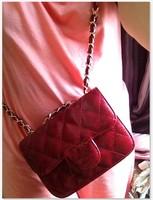 2014 Fashion Brands red chain bag small sachet small plaid women's handbag mini bag
