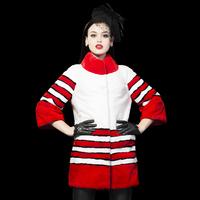 2014 Female Fur Rex Rabbit hair Fur Coat medium-long plus size Fashion  Outwear