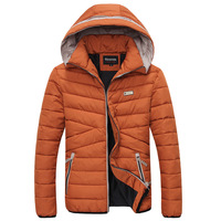 2014 new fashion men Cotton-padded clothes Korean casual Slim lovers hooded jacket
