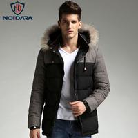 No.1 dara Men's thickening down Coat men's clothing slim medium-long winter male Outerwear Jacket