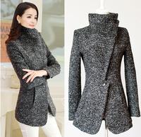 FREE SHIPPING Woolen outerwear female autumn medium-long  coat