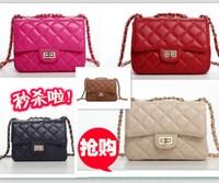 wholesale 2014 plaid chain small bags women's handbag multi-color rose mini cross-body bags