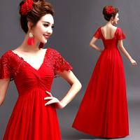 2014 BEST THE ANGEL formal dress,new arrival Lace diamond V-neck evening bandage dress long design evening dress  A9250#