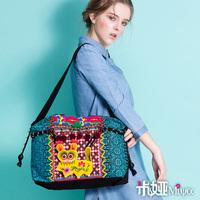 MIYA New arrival national embroidery trend embroidered canvas bag shoulder bag handbag bag national women's handbag