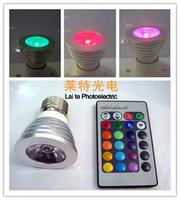Colorful 3w rgb spotlights e27 gu10 color light remote control dangxiang 3w 16 full colorful led color light