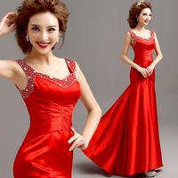 2014 BEST THE ANGEL formal dress Red slim fish tail evening dress long design formal dress A311#