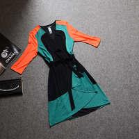 2014 fall fashion for women Designer autumn slim trench coat for women medium trench outerwear plus size women Summer Dress
