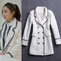 Winter 2014 women's fashion outerwear thickening woolen coats woman slim medium-long overcoat