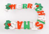Colorful Christmas Tree Decoration Letter MERRY CHRISTMAS Multicolour Surroundings Pendant