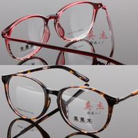 New arrival vintage small fresh Women big box glasses frame circle male myopia eyeglasses frame