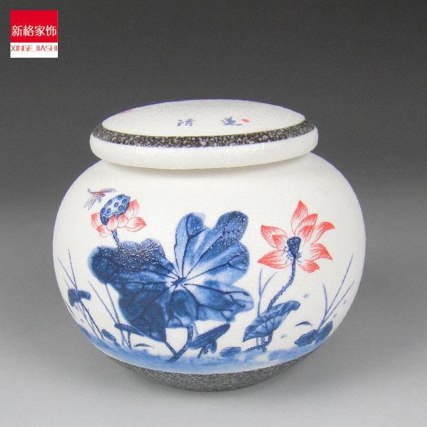 Cerâmica requintado azul e branco pequena vasilha de chá matagal esmalte vasos de vísceras presente(China (Mainland))