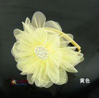 Girl hair accessories pearl rhinestone elegant lace flower headband hair accessory hair bands princess dress accessories
