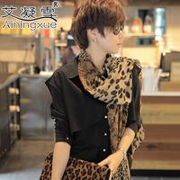 Female big thin scarf cape spring and autumn chiffon long silk scarf