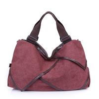 Hot selling 2014 new fall Fashion canvas bag,High quality large shopping bags,Women handbag,Women casual shoulder bag,K-801