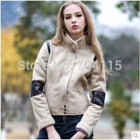 Unisex chamois compound short jacket women faux