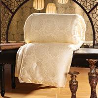 Natural Silk Filled Blanket Comforter 180*220cm 2KG filling Jacquard Cover Free Shipping