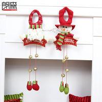 Christmas Tree Decoration Bells Snowman Pendant Cartoon Long Leg Hangings Decoration X-mas day