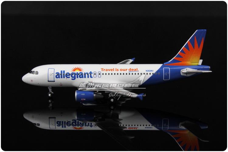 8.4cm 1:400 Geminijets GJAAY1332 Air American Allegiant Airlines Plane Model Airbus A319 N301NV Airways Airplane Model Toy(China (Mainland))
