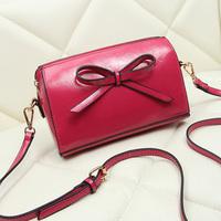 new 2014 candy color bowknot women messenger bag fashion mini small single shoulder bag handbag