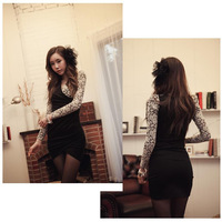 women sexy patchwork elegant lace V-neck Plus Size XXXL XXXXL XXXXXL XXXXXXL 3xl 4xl 5xl 6xl 7xl 8xl 9xl bodycon Casual Dress