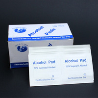 Disposable alcohol prep pad alcohol film tableware sterile piece wet wipe outdoor travel first aid supplies  Free Shipping