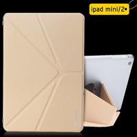 Ultra thin Design Leather cover case  for ipad Mini 2 case Micro fiber Leather Classical  Smart case for ipad mini2