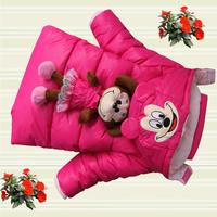 D100 children's clothing winter 2014 female child wadded jacket cotton-padded jacket gossip child cotton-padded jacket children