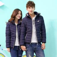 2014 new winter Cotton-padded clothes Korean fashion leisure slim lovers cotton jacket