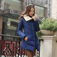 2014 Women down cotton-padded jacket medium-long slim fashion outerwear thickening wadded jacket female