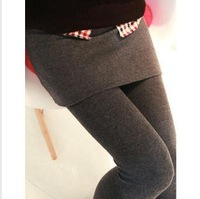 Hot Selling Grey Black False Two-piece Legging Pant skirt Women's Fashion Leggings With Mini Skirts Slim Fit