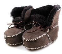 2014 winter baby boots Wool leather one piece baby shoes baby shoes toddler shoes soft outsole winter child snow boots