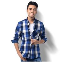2014 New Autumn and winter Fashion Casual Shirts For Men,100% Cotton Mens Plaid / Stripe / Print Design Long-sleeved Shirt Man.