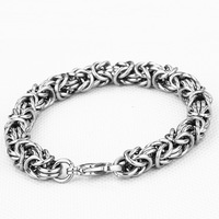 Men's titanium steel bracelet Korean fashion jewelry interlocking length can be customized