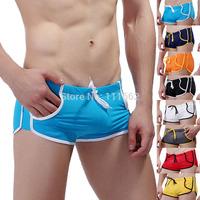 2014 new men swimwear colorful pocket boxerquick dry fashion swimwear swimming trunk 8 style