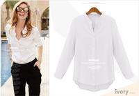 2014 fashion fall long sleeve women blouse plus size shirt women white women work wear ho sale blusas femininas shirt