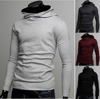 2014 autumn new men hedging sweater Korean fashion menswear solid color casual jacket 4 color into