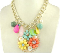Bohemia sweet flower pendant necklace rustic fresh necklace 0182