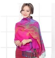 Cotton Shawl Fashion Winter Scarf Women Infinity Long Scarves Tassel Pashmina