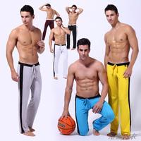 men sports full length running pants elastic milk silk home casual long johns