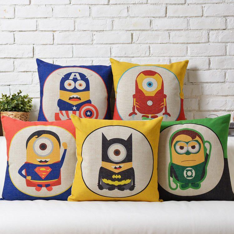 4 pcs/set almofada quadrada cobrir colorido pequeno cartoon imagem(China (Mainland))