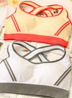 sports wireless comfortable women's push up bra vest design young girl underwear set thin pad