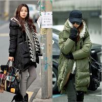 New 2014 jacket winter coat thicken Slim female  long coat women parkas winter coat plus size XS-L