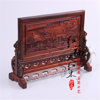 Red miniature classical small furniture red wood model technology gift rosewood table plaque