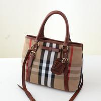 Women's handbag fashion vintage canvas handbag  messenger bag shoulder bag patchwork color block women's bags