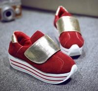 2014 women's autumn casual shoes platform fashion platform genuine leather shoes female single shoes elevator