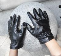 Women's leather gloves winter outdoor windproof keep warm
